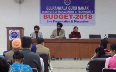 Live Presentation on Union Budget 2018 at GGNIMT
