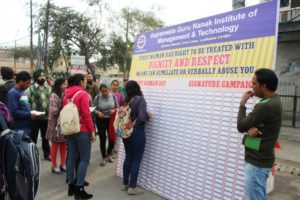 GGNIMT organizes Signature Campaign on Womens' Day